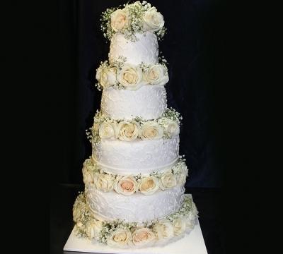 Торт  свадебный № 127 1кг