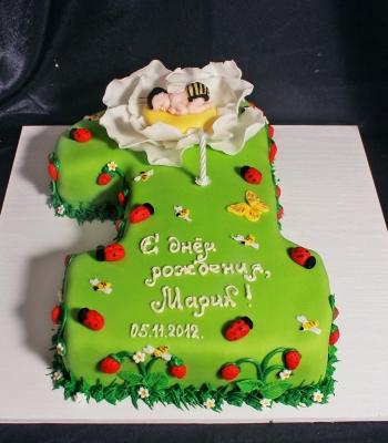 Торт на годик за 1кг