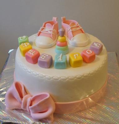 Торт на первый день рождения фото