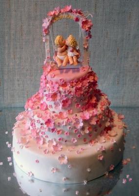 Свадебный торт Ангелочки 8 кг
