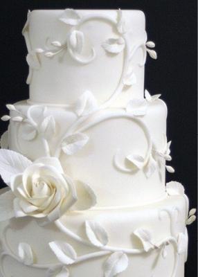 Торт свадебный №226  1 кг