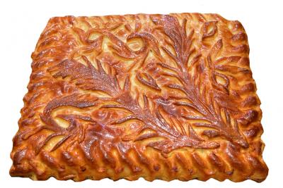 Пирог яблочный с посыпкой 1кг