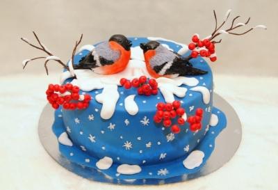 Торт Снегири 2 кг