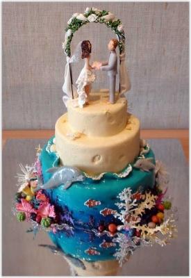 Свадебный торт № 26  9 кг