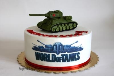 Торт World of Tanks №1  2,5кг