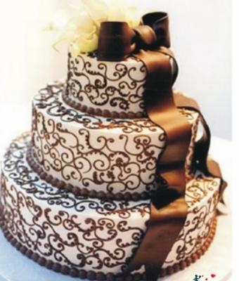 Свадебный торт № 32  10 кг