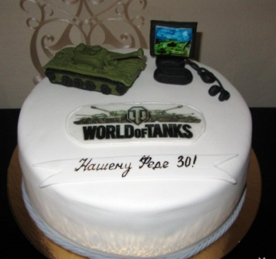 Торт World of Tanks №3 за 1кг