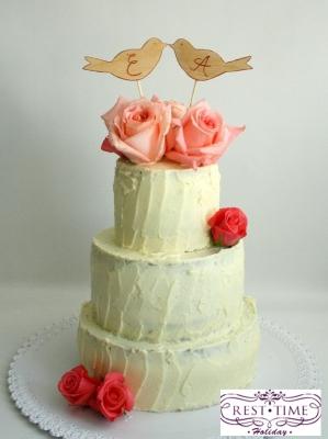 Торт Свадебный №244  1кг