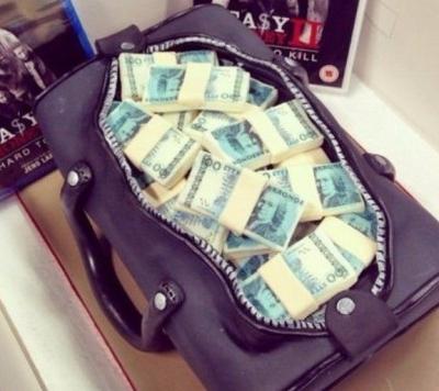 Торт Сумка с деньгами 5кг