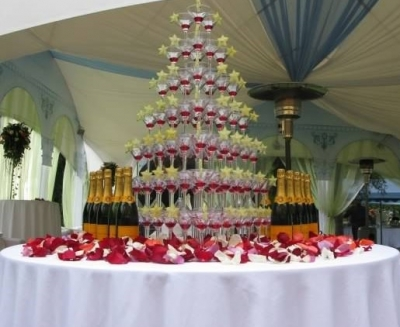 Услуга Каскад для шампанского