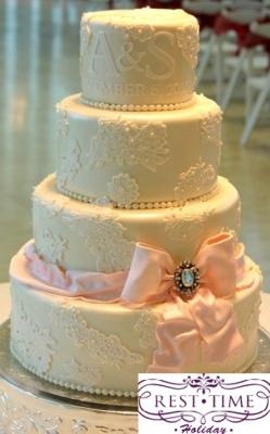 Торт свадебный №233 1кг