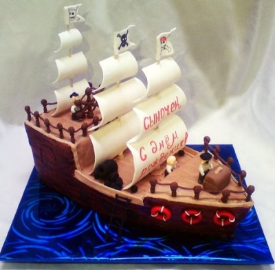 Торт Пиратский корабль за 1кг