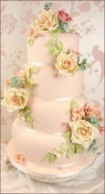 Свадебный торт № 122  10кг