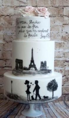Торт Свадебный №270  1кг