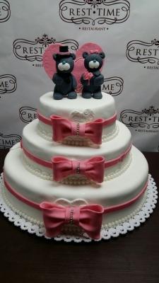 Торт свадебный с мишками 10кг