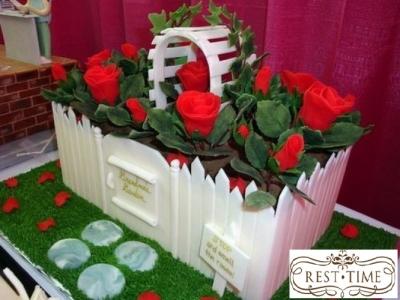 Торт Розовый сад 2,5кг