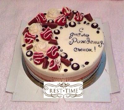 Торт Сливочная ягода 2 кг