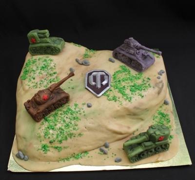 Торт World of Tanks №4  за 1кг