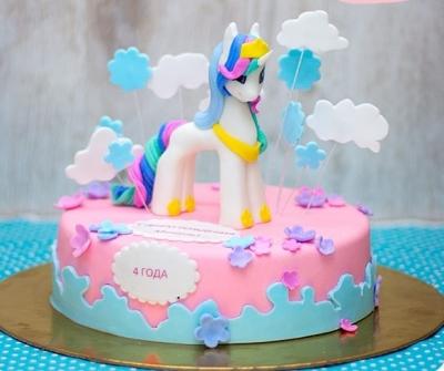 Торт Единорожка в облаках за 1кг