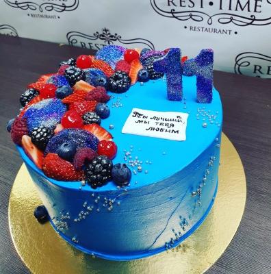 Торт Синий с ягодами за кг