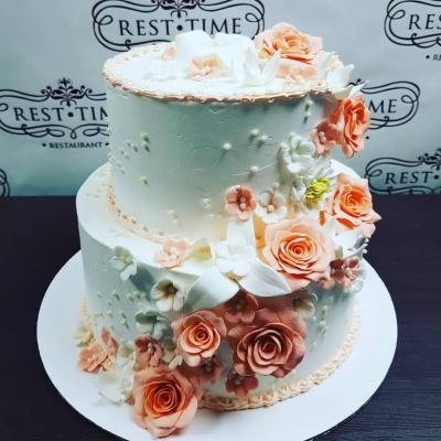 Торт  Цвет Персик  за 1 кг
