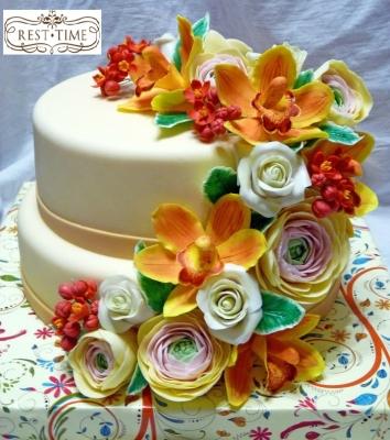 Торт с цветами №1 4,5кг