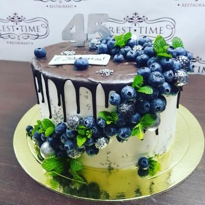 Торт Каскад из голубики 2,5кг