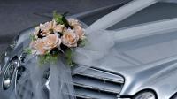 Украшение свадебного автомобиля без оформления