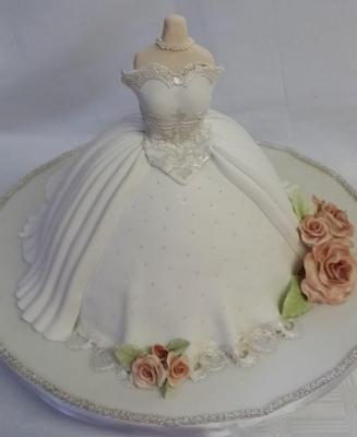 Торт Свадебное платье 2кг