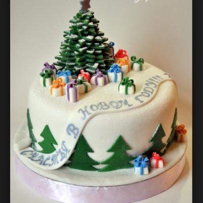 Торт С Новым годом 3кг