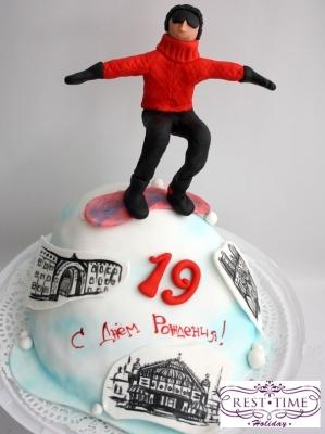 Торт Сноуборд 2кг
