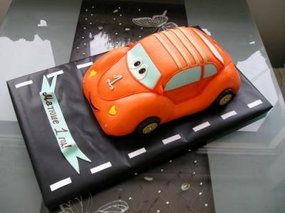 Торт детский с машинкой за 1кг
