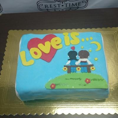 Торт Love is 2кг