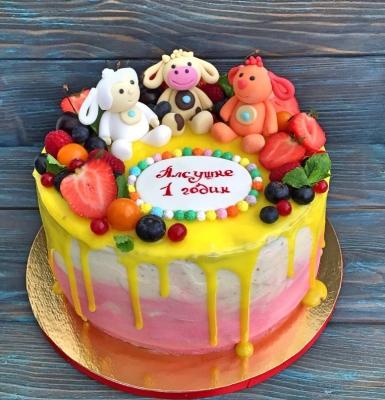 Торт Малышу с ягодами за 1кг