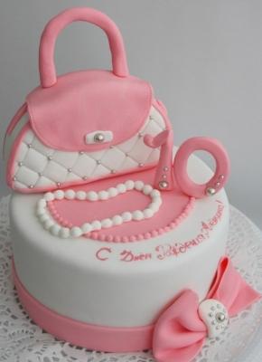Торт с сумкой за 1кг