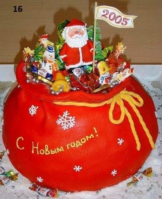 Торт новогодний Дед мороз  2,5кг