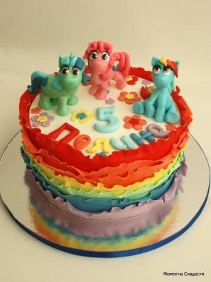 Торт Радужный с пони за 1кг