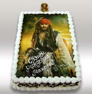 Торт Джек Воробей 2 кг