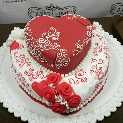 Торт С узором 4 кг
