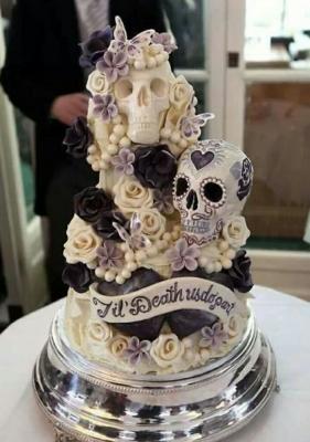 Торт Черепа в цветах за кг