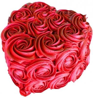 Торт Сердце из роз 2кг