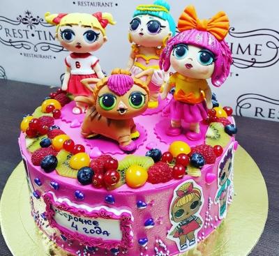 Торт детский ЛОЛ 3,5кг
