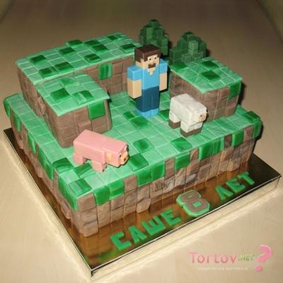 Торт Майнкрафт №7 1кг