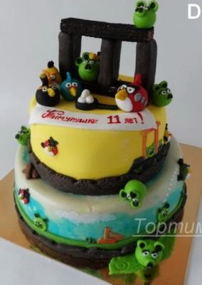 Торт детский Angry Birds за 1кг