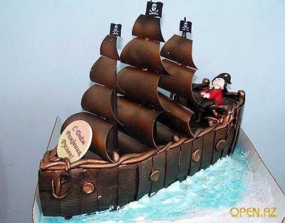 Торт Пиратский корабль №2  за 1кг