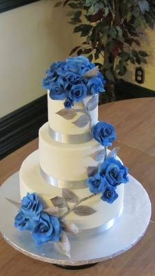 Торт Голубая роза 10кг