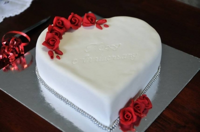 Торт Белое сердце 2кг
